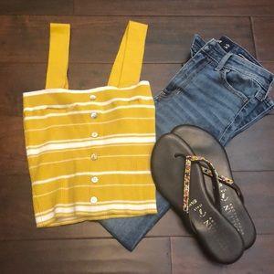 NWT • PacSun Yellow Sweater Tank